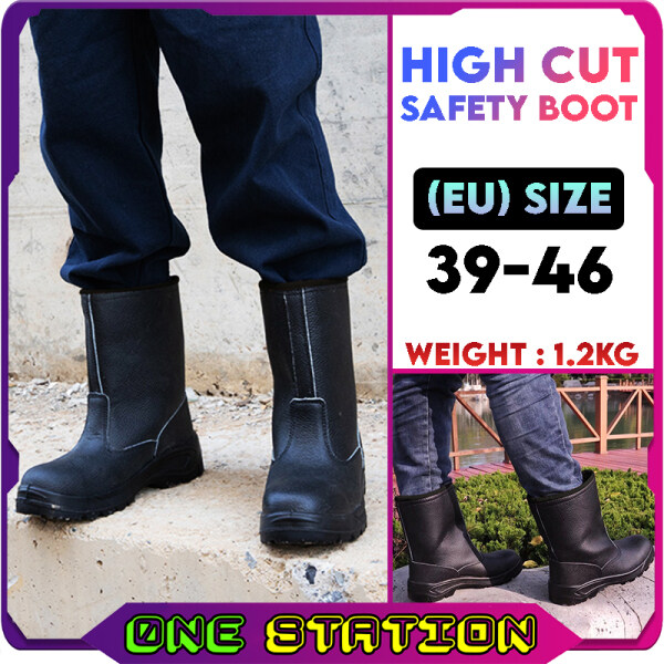Steel Toe Cap Mid Sole High Cut Safety Boot High Ankle Kasut Safety Shoe