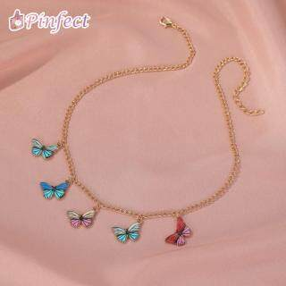 Pinfect vòng cổ nữ họa tiết bướm nhiều màu sắc phong cách cổ điển quyến rũ - INTL thumbnail