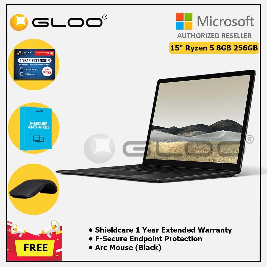 Microsoft Surface Laptop 3 15  Ryzen 5/8GB RAM - 256GB Black + Shield Care 1 Year + F-Secure 1 Year + Arc Mouse Black Malaysia
