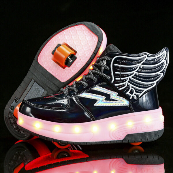 Mua Giày Trượt Patin LED Nhiều Màu, Giày Ròng Rọc Nhẹ Cho Bé Trai Và Bé Gái-Sạc Hai Bánh