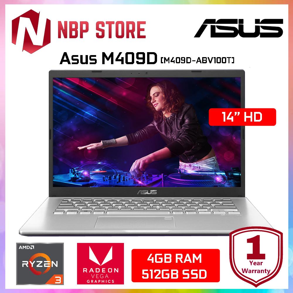 Asus M409D-ABV100T 14  Laptop Transparent Silver ( Ryzen 3-3200U, 4GB, 512GB SSD, ATI, W10 ) Malaysia
