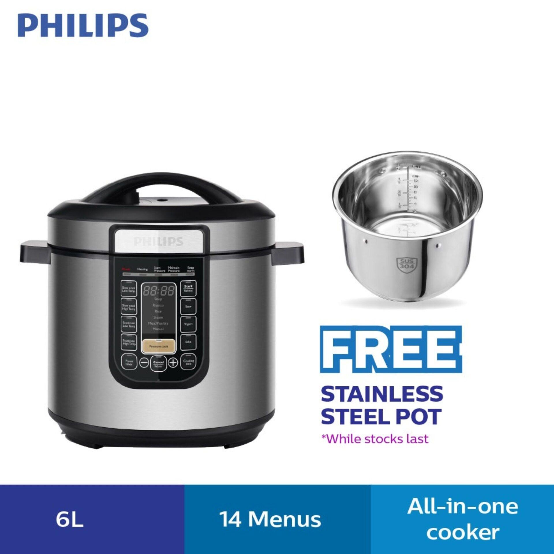 Philips Pressure Cooker HD2137 (6.0L) Multi Cook Menus (HD2137/62)