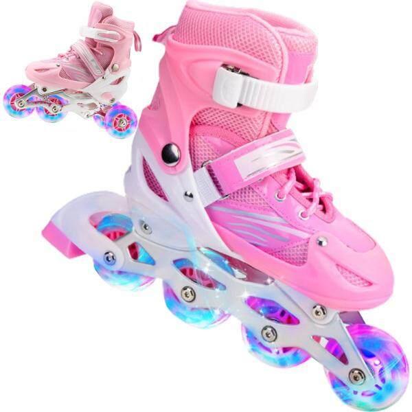 Mua Giày Trượt Patin 2 Trong 1, Giày Trượt Patin Điều Chỉnh Được 4 Kích Cỡ Dành Cho Trẻ Em Và Người Lớn, Giày Trượt Bánh Xe Nhấp Nháy Ngoài Trời