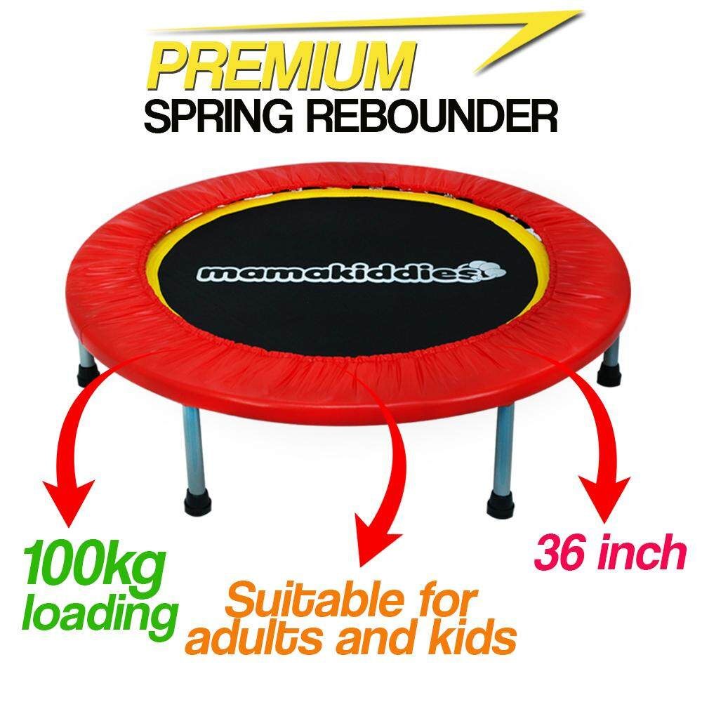 Mamakiddies Premium 36 Adult & Kids Trampoline For Fitness Slimming, Anti Stress, Jumping Bouncer, Autism Physical Therapy & Exercise By Mamakiddies.