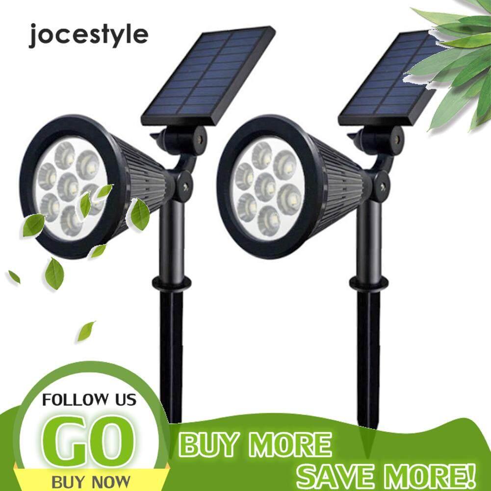 【Jocestyle】Lampu Dekorasi Taman Tenaga Surya, Lampu LED Luar Ruangan 7LED, Tahan Air RGB, Halaman Taman, Proyeksi, Dekorasi Jalur Jalan Raya, 2 Buah
