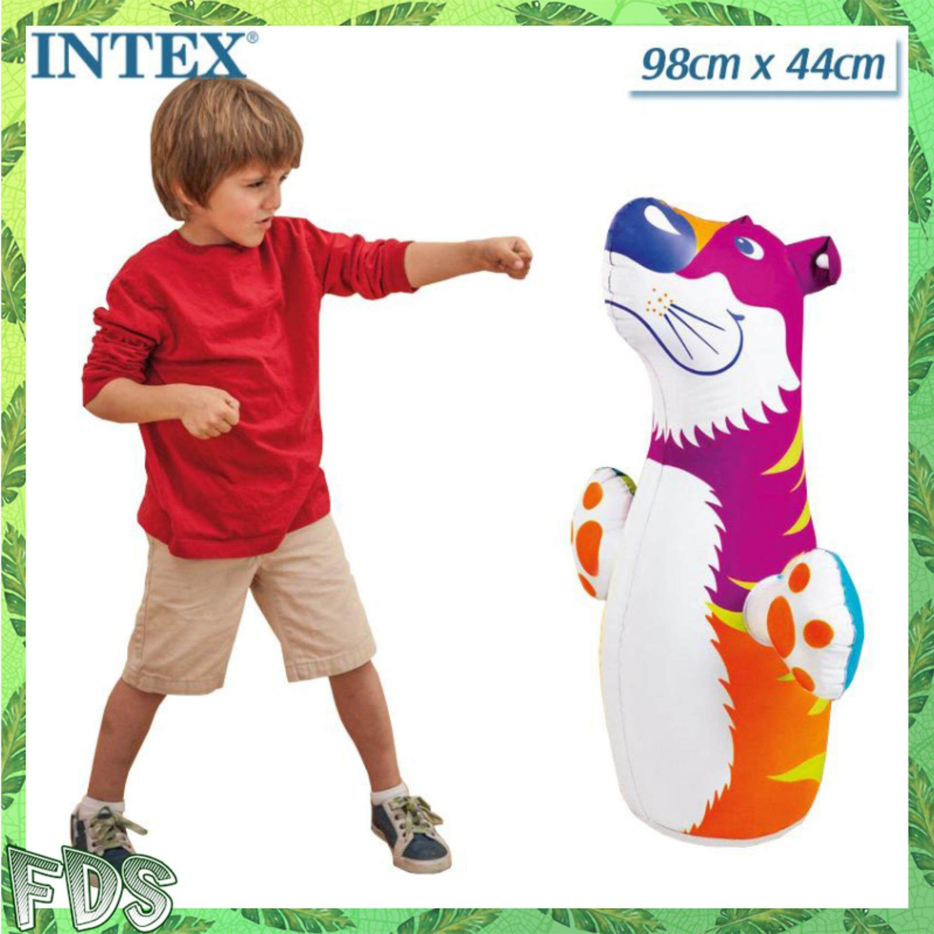 Intex 44669 Inflatable Animal Toy Children 3d Bop Bags Designs Boxing Punch Bag Internal Water By Factory Direct Store.