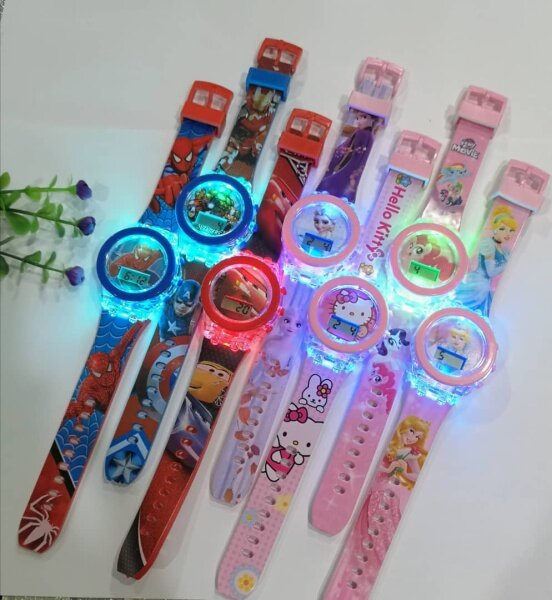 💥readystock💥 Jam Budak Spiderman Avenger Frozen Pony Kitty Lampu Kid Watches Light Malaysia