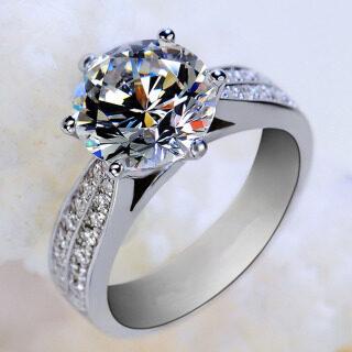 Nhẫn nữ màu bạc kích cỡ Mỹ 5-9 thiết kế theo phong cách châu Âu cổ điển và sang trọng - INTL thumbnail