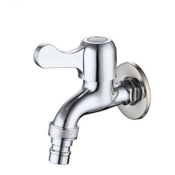 SHENGLONGDI Stainless Steel Bathroom Washing Machine Faucet Wall Bib Tap