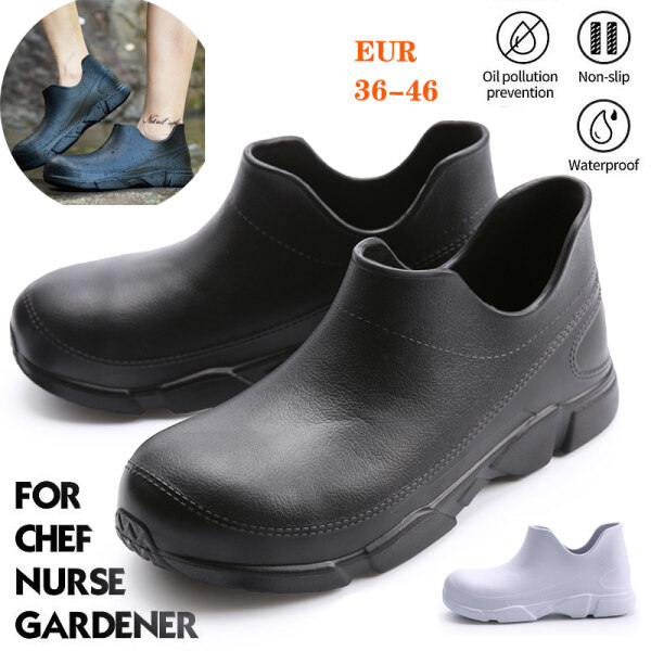 Chef Shoes Clog Shoes Work Safety Shoes Anti-slip Waterproof Oil Resistant Men and Women Wear-Resistant Slip on Shoes