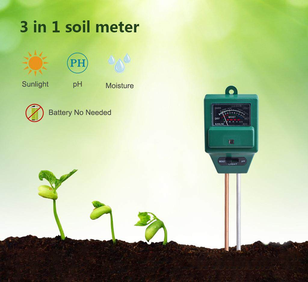 Malonestore Soil pH Meter  3-in-1 Soil Moisture/Light/pH Tester Gardening Tool Kits