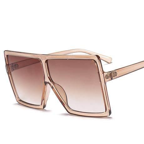 2019 Kacamata Hitam Besar Wanita Merek Persegi Kacamata Hitam Coklat HITAM PINK Lensa Kacamata UV400 Kacamata Wanita Harga Murah