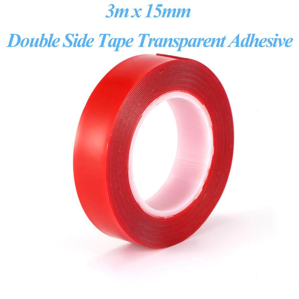 3 m X 8/10/15/20 mm Car Attachment Double Side Tape Glue Sticker Interior Accessories Acrylic Transparent Adhesive DIY Action Figures Automotive Indoor Decoration High Strength Tape(Upgraded Version) - 1 Pcs