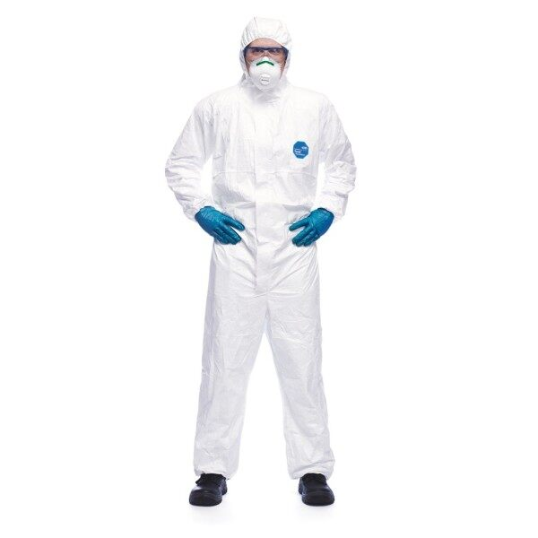 ►  Disposable Coverall Tyvek 400 Dupont Expert Hospital Grade Isolation Gown PPE Suit Disinfection Jumpsuit Surgical Hazmat
