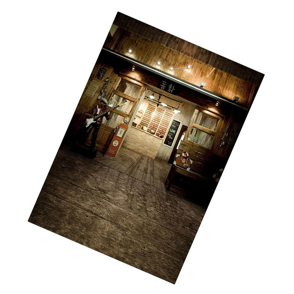 Perfeclan Realistic Bar Backdrop Background for Doll Photography Accs 30x60cm