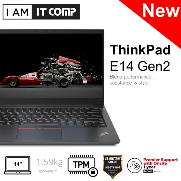 Lenovo ThinkPad E14 Gen 2 20TA000HMY 14 FHD Laptop ( i5-1135G7/8GB/256GB SSD/INTEL/W10P ) FOC Backpack Malaysia