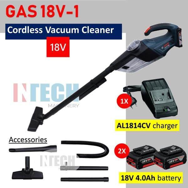 BOSCH GAS18V-1(SOLO) CORDLESS VACUUM CLEANER (AL1814CV CHARGER + 2NOS 18V 4.0AH BATTERY)