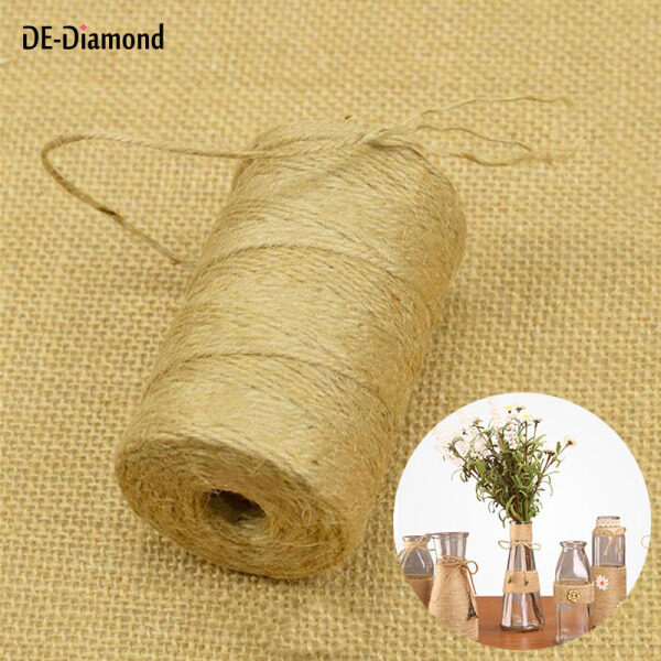 DE 100m/38ft Natural Jute Rope Roll Twine String Cord for Gardening DIY Scrapbooking Craft Making