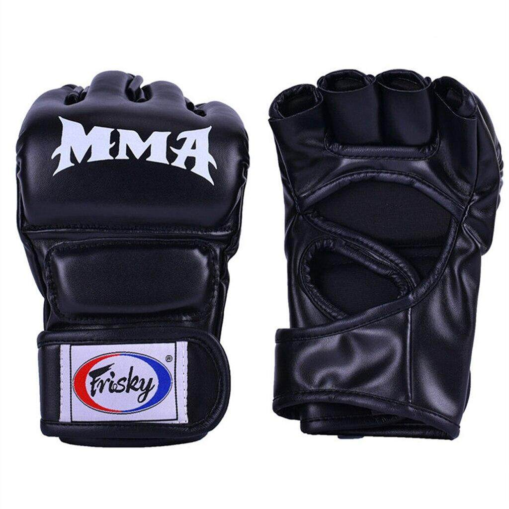 Half Finger Boxing Gloves Punching Fighting Training Gloves Fitness Training