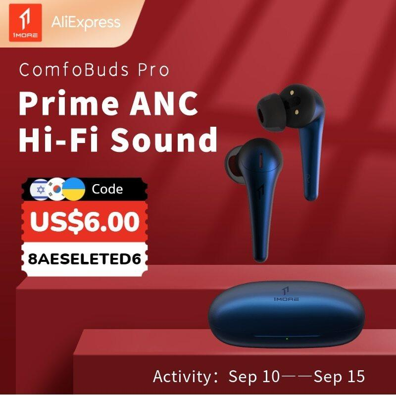 Original And New 1MORE Comfobuds Pro ANC TWS Active Noise Cancelling Bluetooth 5.0 Wireless Headphones QuietMax 13.4mm Bass Dynamic AAC EarBuds Singapore