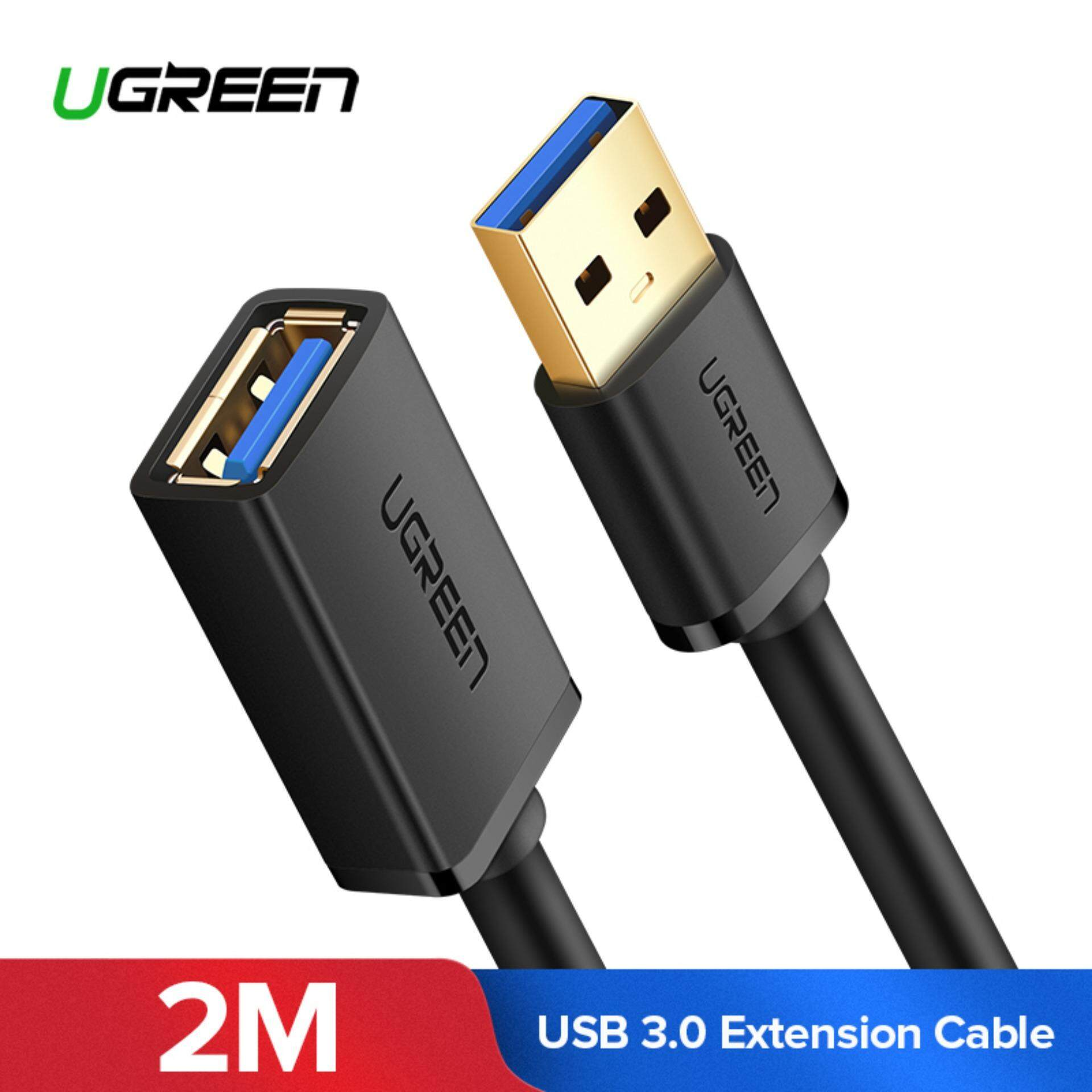 UGREEN 2Meter USB Extension Cable USB 3.0 Extender Cord Type A Male to Female Data Transfer