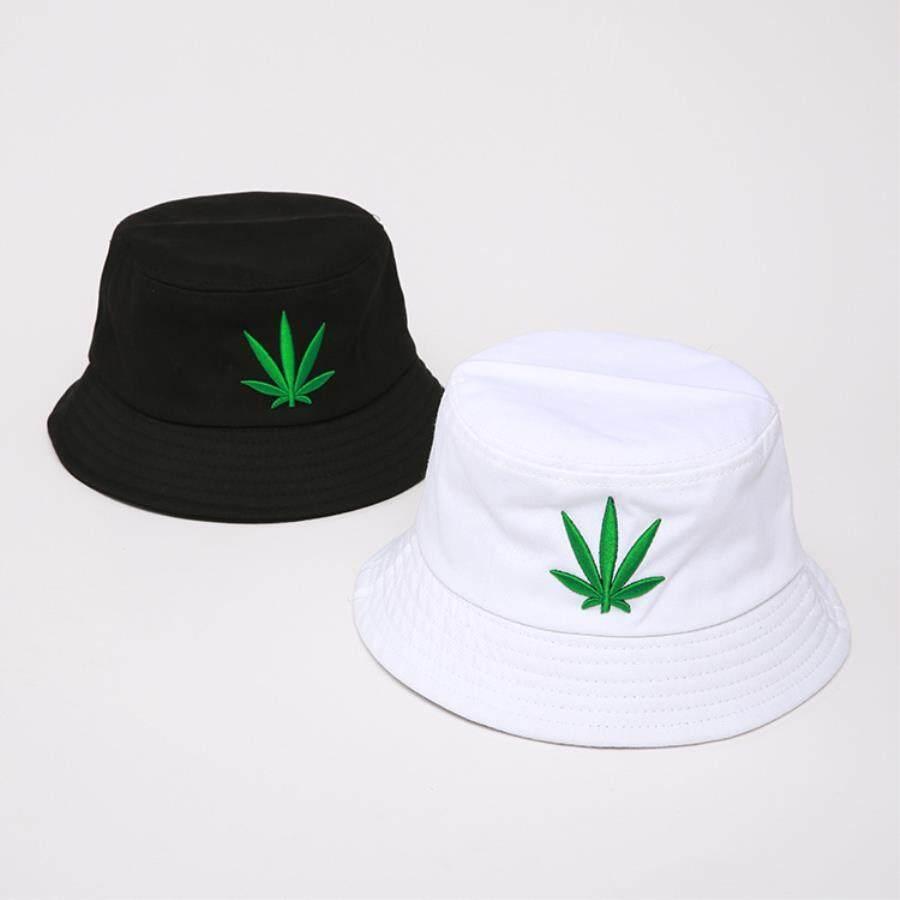 3a17e1110 Men Women Maple Leaf Bucket Hat Hip Hop Fisherman Panama Hats Embroidery  Cotton Outdoor Summer Casual Swag Bob Visor Bucket Cap