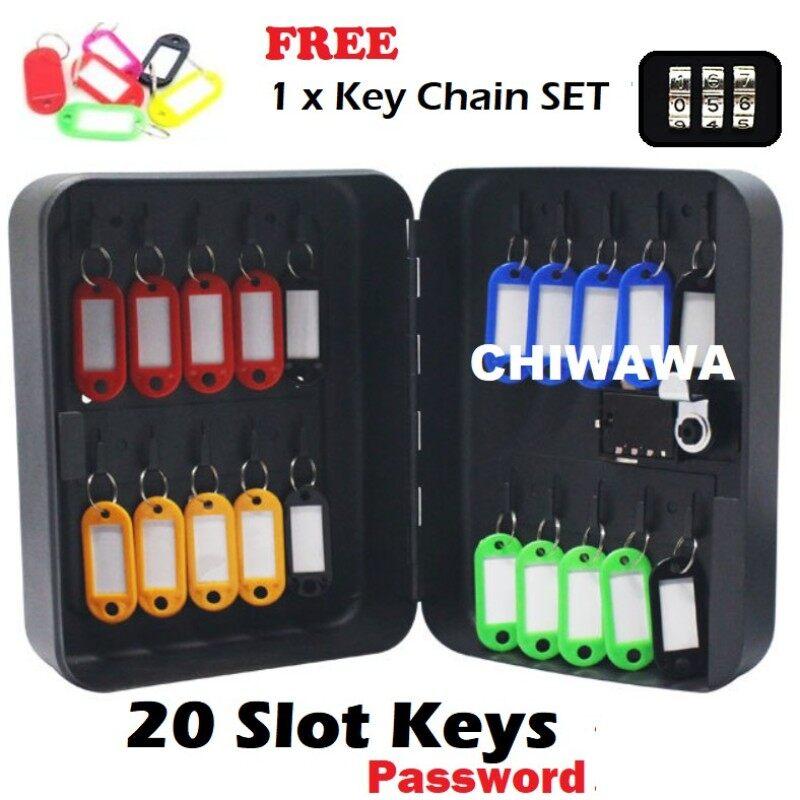 ✎  20 Keys Metal Wall Mount Key Box With 4 Digit Safe Password Security Storage Box