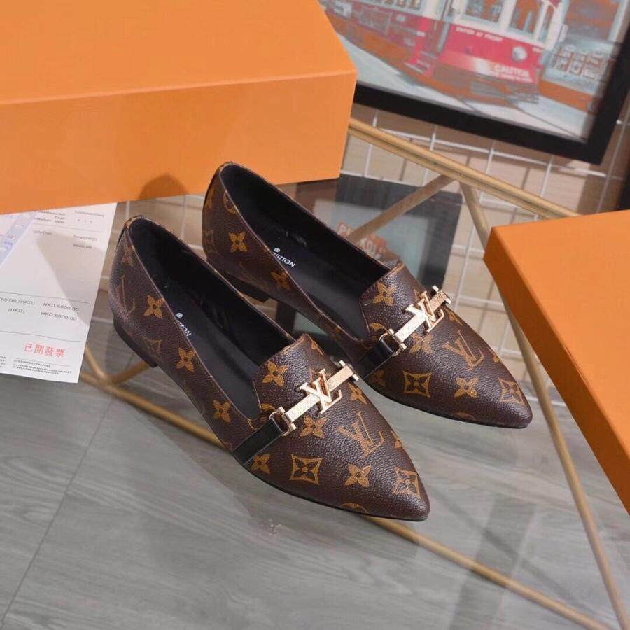 60dddbca346cf LV2019 new fashion ladies shoes, luxury office women's shoes, classic  business shoes,Women's