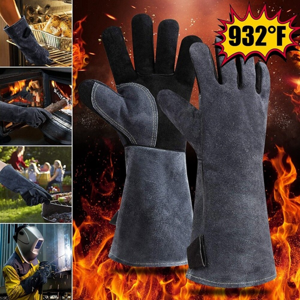 932 F Heat Resistant Grill Insulated Cotton Forge Welding Gloves Safety Glove Bbq Glove Long Sleeve Lazada Ph