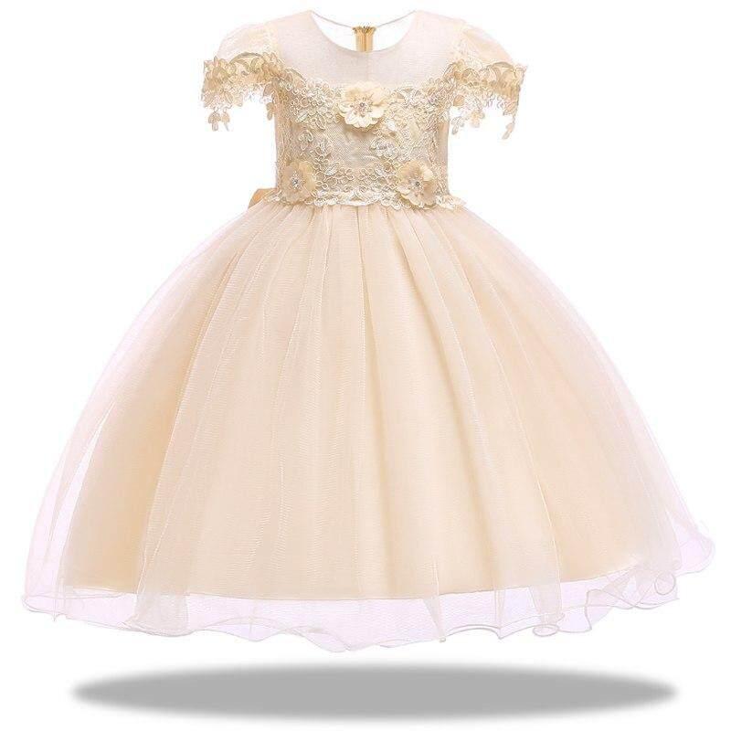71644650d Flower girl dress for Girls tutu Lace beading Girls Dresses for Children  Princess Party Custumes 2