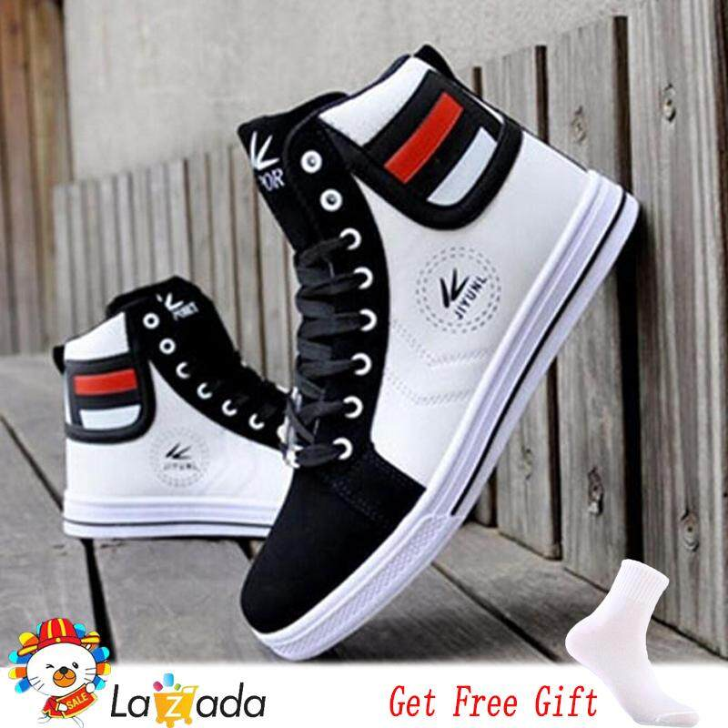 45531febd184 Fashion Men Casual High Top Sport Sneakers Athletic Running Shoes Lace Up  Ankle Boots (White