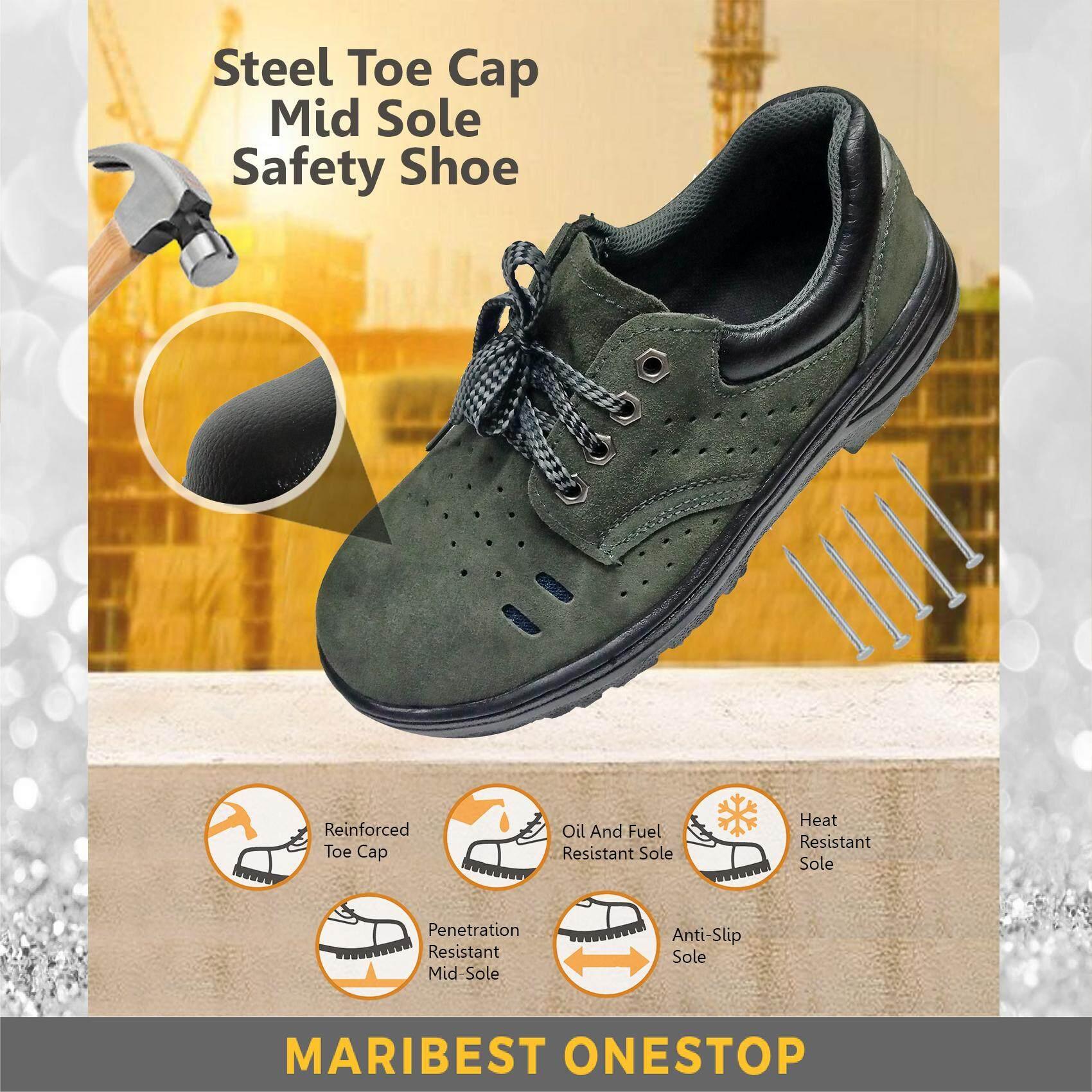 Safety Shoe Steel Toe Cap Mid Sole Low Cut Green