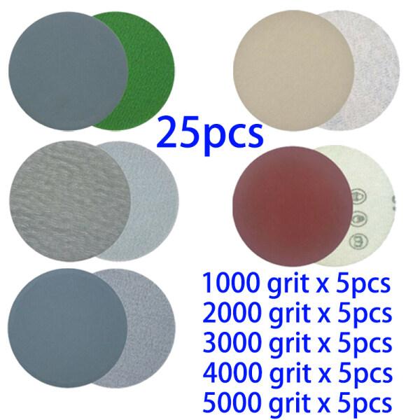 25pcs Sand Paper Hook and Loop Sanding disc 1000 2000 3000 4000 5000 Grit Grinding Polishing