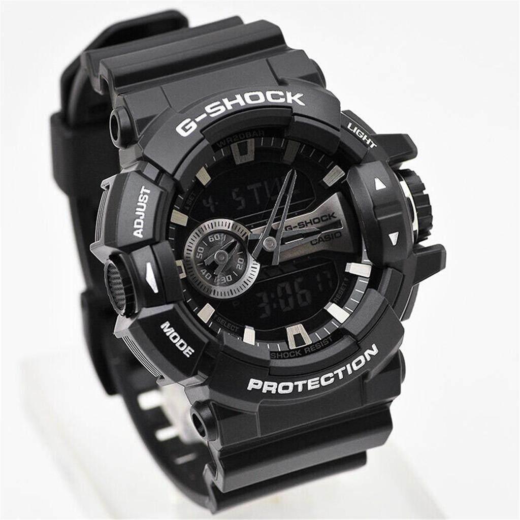 ยี่ห้อนี้ดีไหม  พังงา 【 STOCK】Original _ Casio_G-Shock GA400 Duo W/เวลา 200M กันน้ำกันกระแทกและกันน้ำโลกนาฬิกากีฬาไฟแอลอีดีอัตโนมัติ Wist นาฬิกากีฬาสำหรับ MenGA-400GB-1A สีดำ