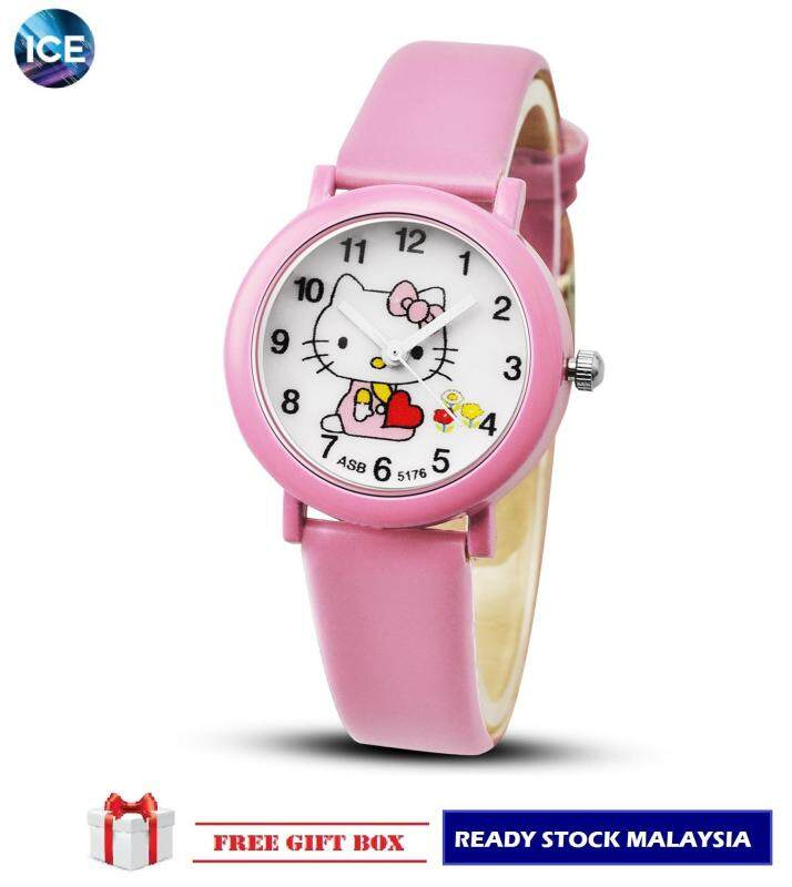 ICE Kids/Childrens Sport and Casual Hello Kitty Analog Watches + Watch Box Best Gift Jam Tangan Malaysia
