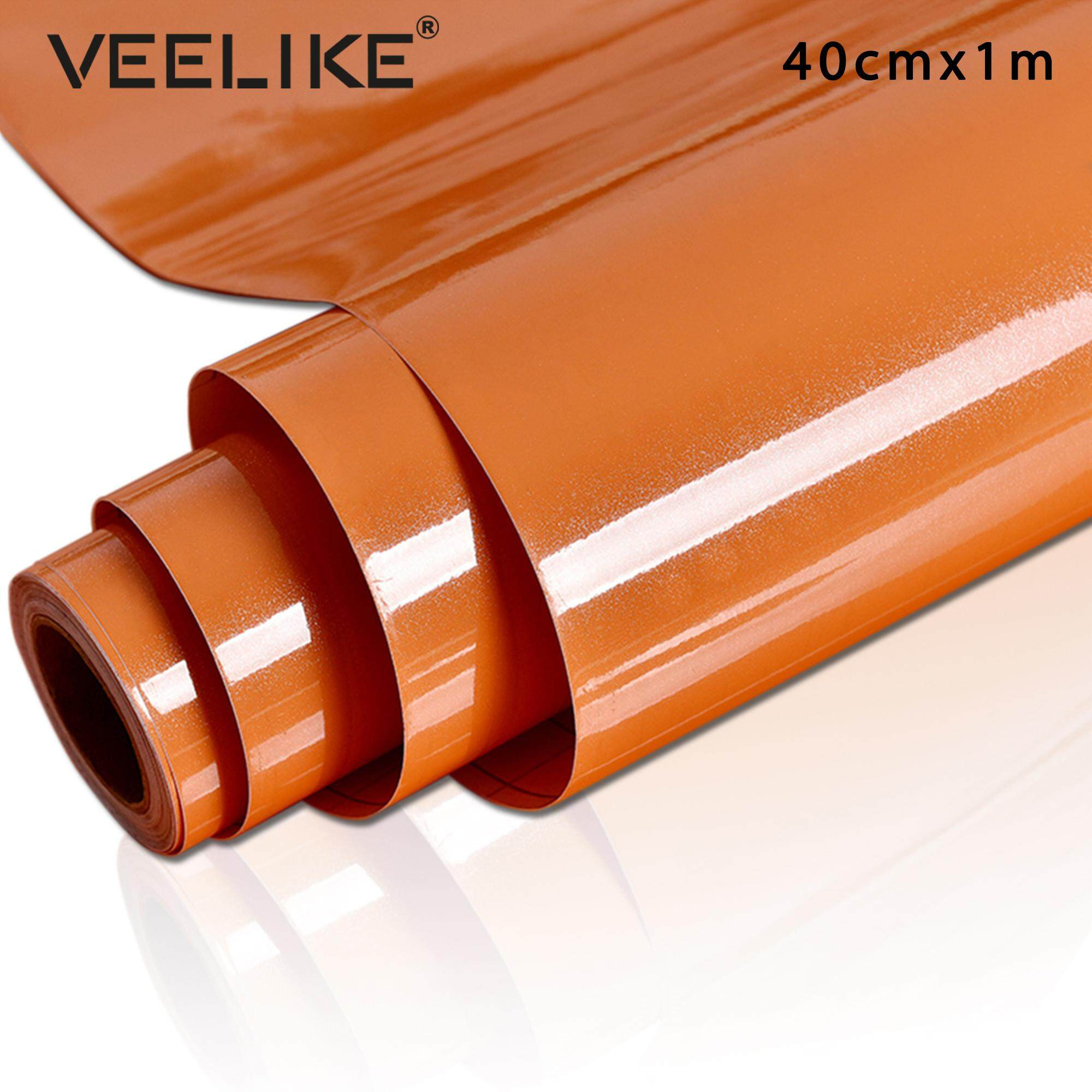 Veelike High Glossy Removable Self Adhesive Wall Paste for Cabinets Shelf Liner Peel and Stick Home Decoration Kitchen Decor Wallpaper 40cm*1m