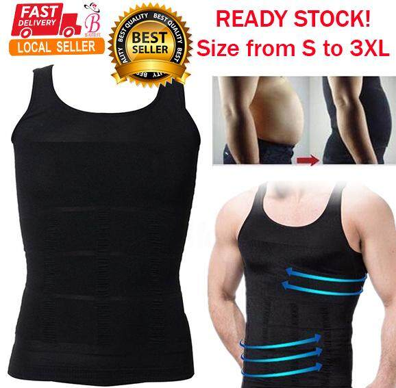 Men Slim N Lift Body Shaper Vest Slimming Shirt Singlet Tummy Control Underwear By Beautelife.