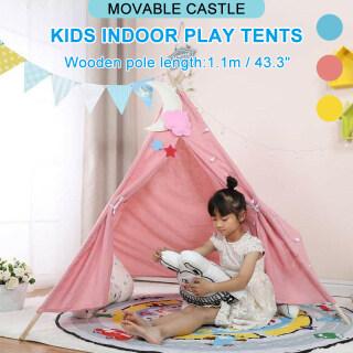 Lều Chơi Trong Nhà Cho Trẻ Em, Lều Đi Dã Ngoại Ngoài Trời Lâu Đài Lớn Màu Xanh Hồng thumbnail
