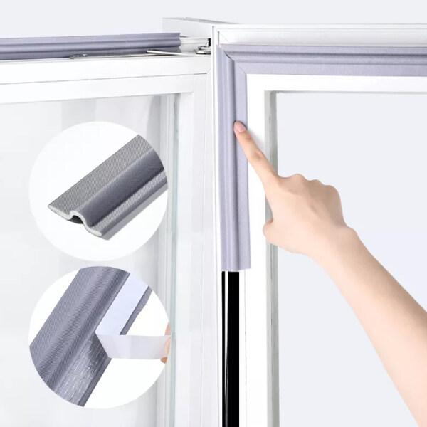 2meter/4meter/6meter  Self Adhesive Window Seal Strip SoundProof and Windproof Nylon Cloth Foam Door Weather Rubber Strip for Sliding Windows Accessories Tools