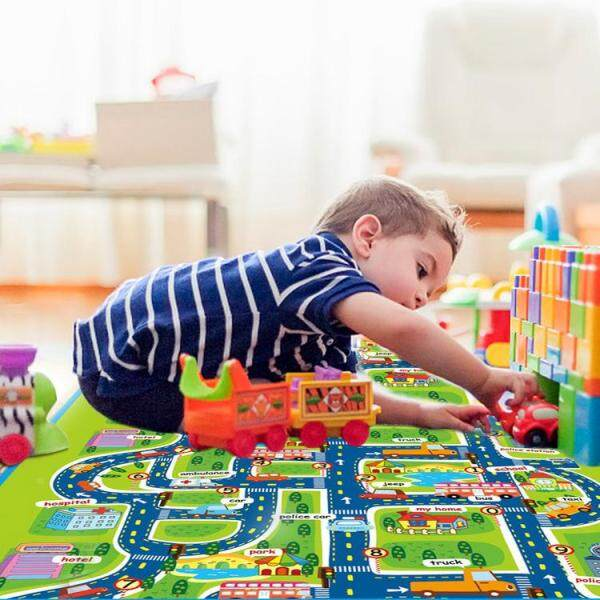 Kids Carpet Playmat Rug City Life Great For Playing With Cars and Toys Play Learn and Have Fun Safely Kids Baby, Children Educational Road Traffic Play Mat For Bedroom Play Room Singapore