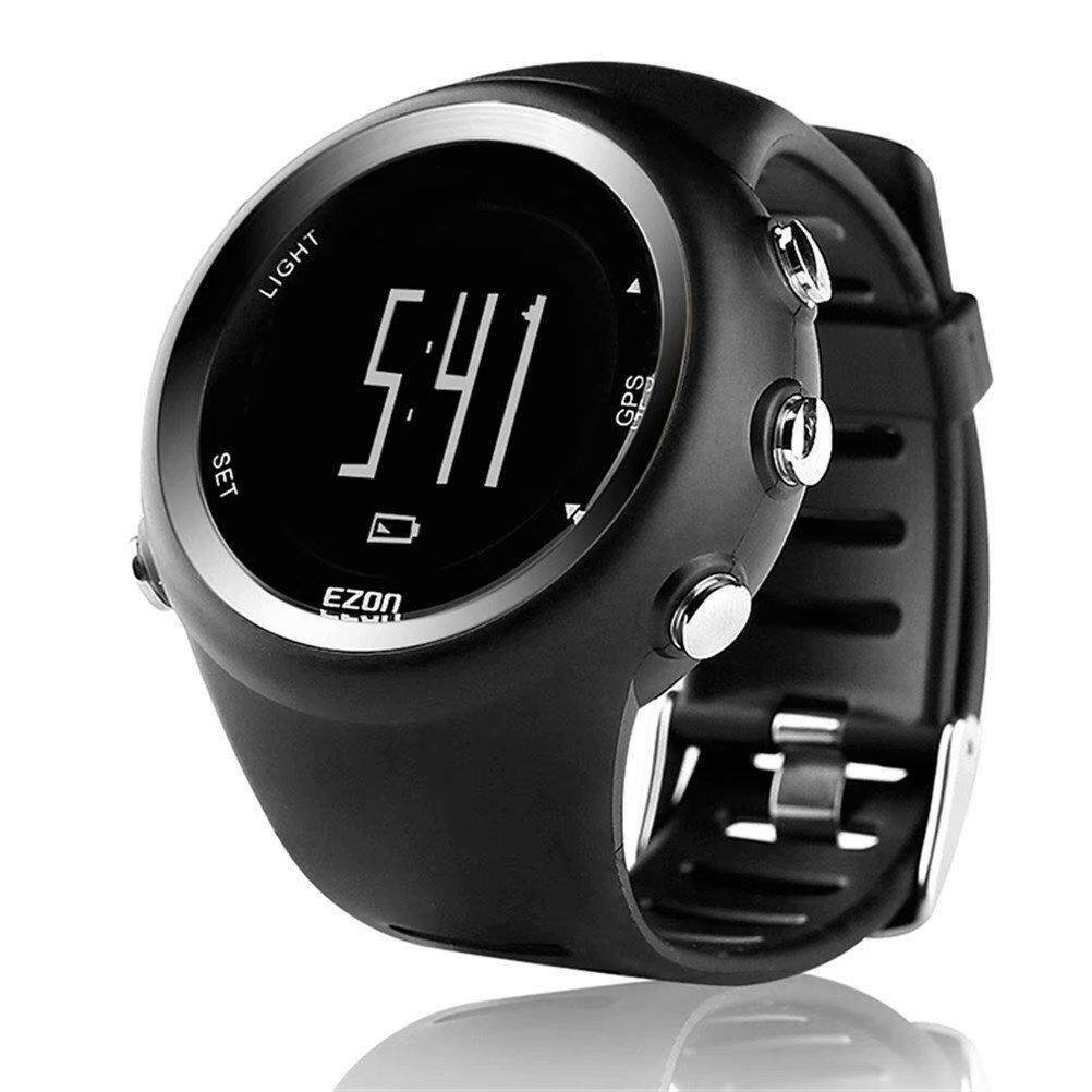 EZON T031 Men Watches Luxury Brand GPS Timing Running Sports Watch Calorie Counter Digital Watches with