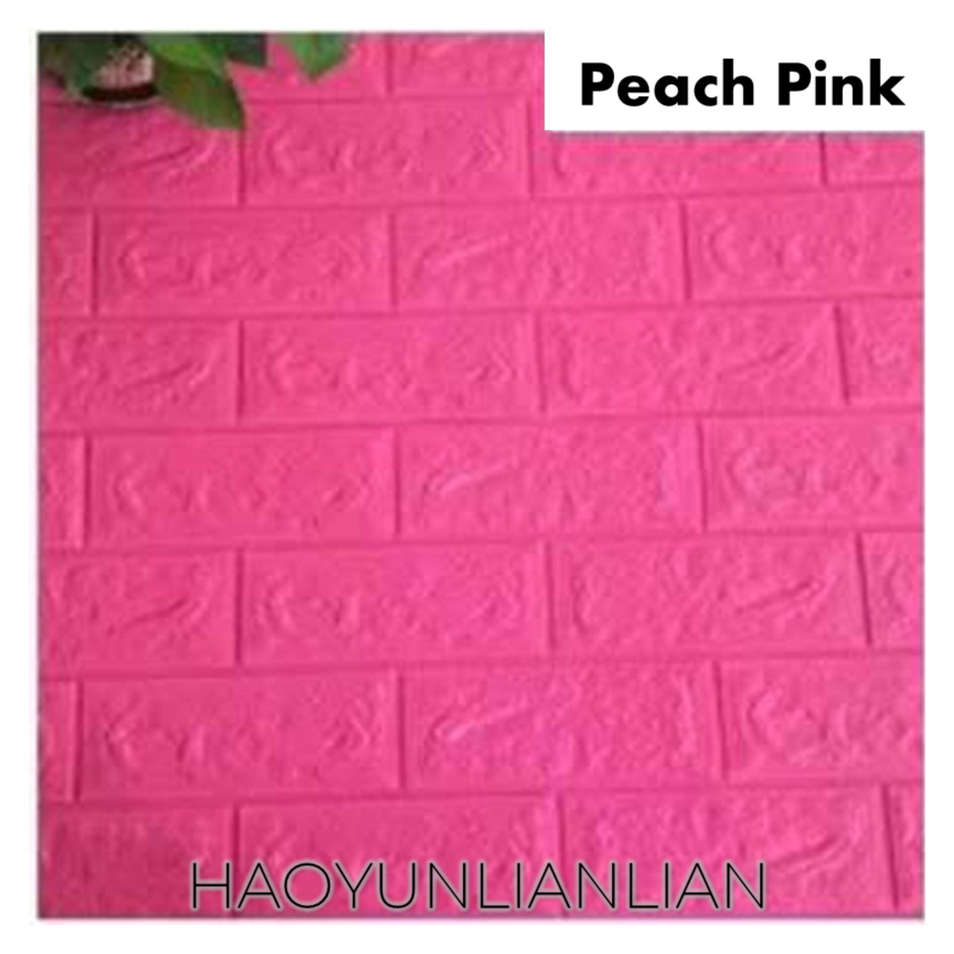 (Ready Stock) HYLL 3D Wallpaper Decor Stone Brick PE Foam DIY Wall Stickers 70x77cm