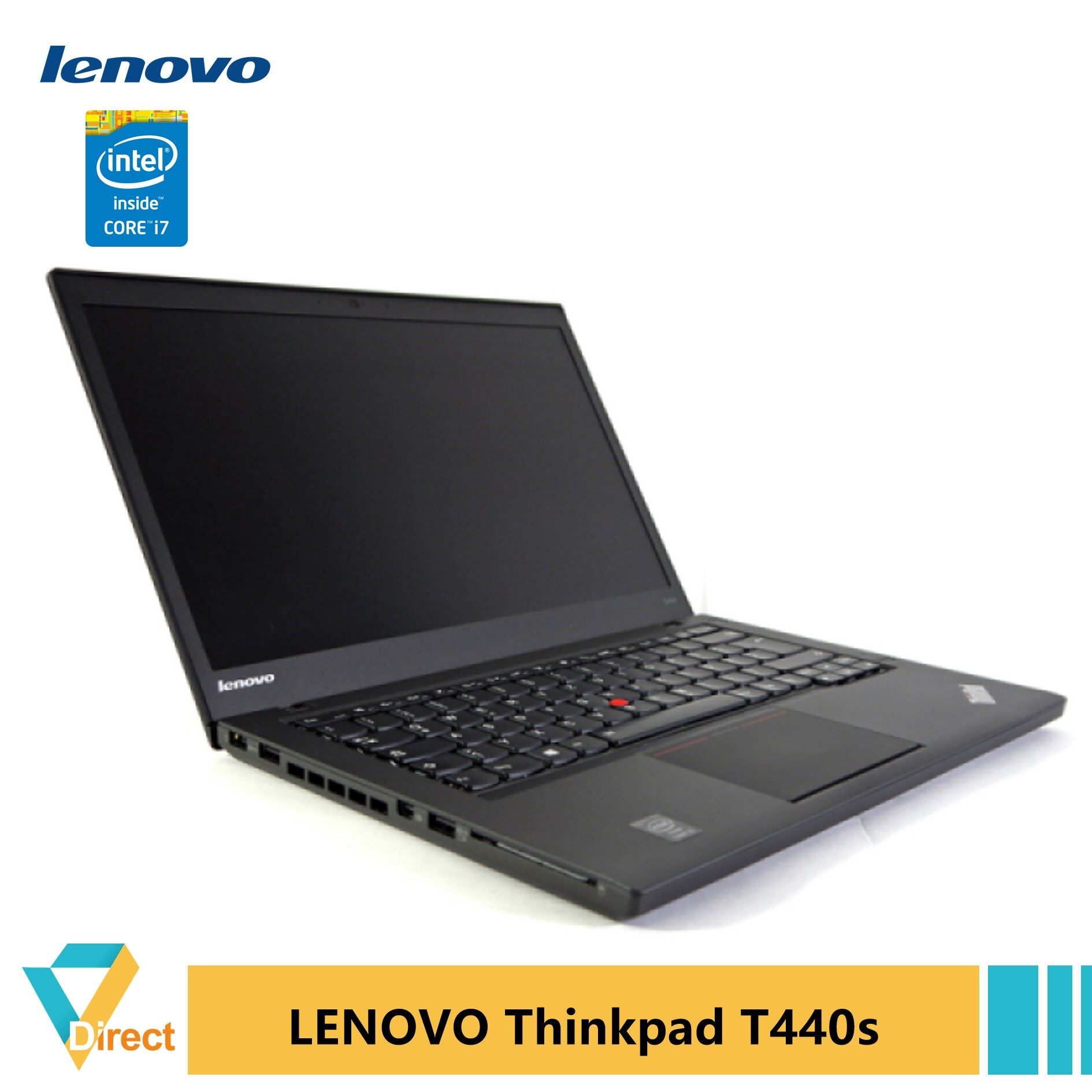 1.5kg Core i7 8GB RAM 256GB SSD Thinkpad T440s laptop PC Ultrabook fully refurbished Vs Elitebook 800 Latitude E7440 E7240 E6440 Malaysia