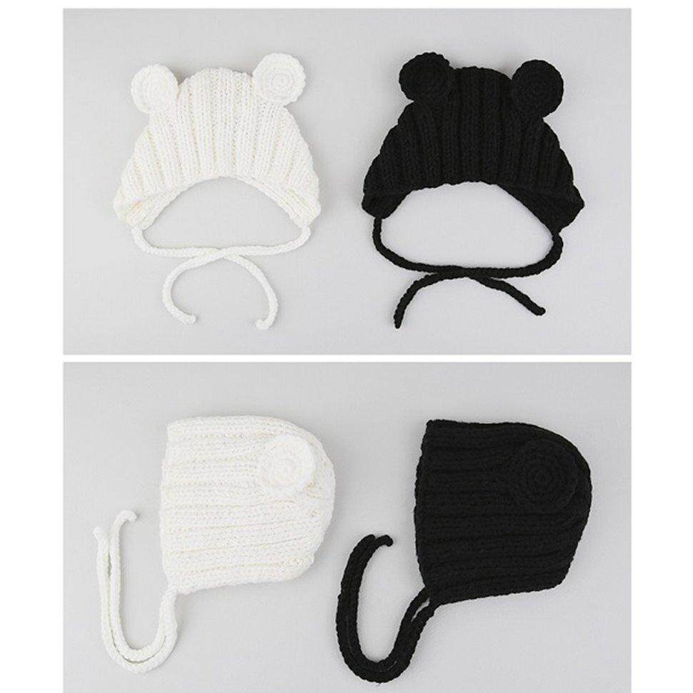 Image 5 for BGD ใหม่หมวกเด็กฤดูใบไม้ร่วงและฤดูหนาว 0-3 ปี Handmade หูหมีหมวก