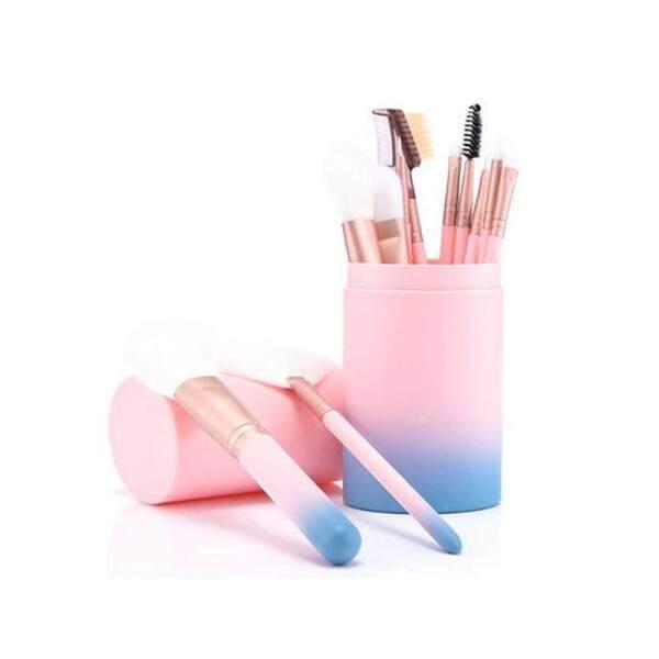 12 Cái Makeup Brush Set Với Vòng Xi Lanh Chủ Eyeliner Powder Đường Viền Che Khuyết Điểm Eye Shadow Foundation Lip Vát Lông Mày Cọ