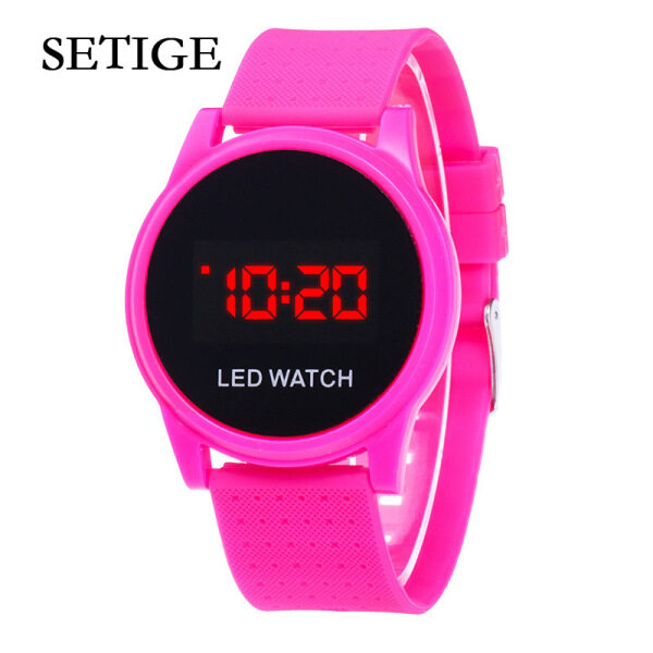 SETIGE Watch for Student New Ultra-thin LED Round Touch Touch Sunglasses Fashion Sports and Leisure Student Couple Electronic Watch Malaysia