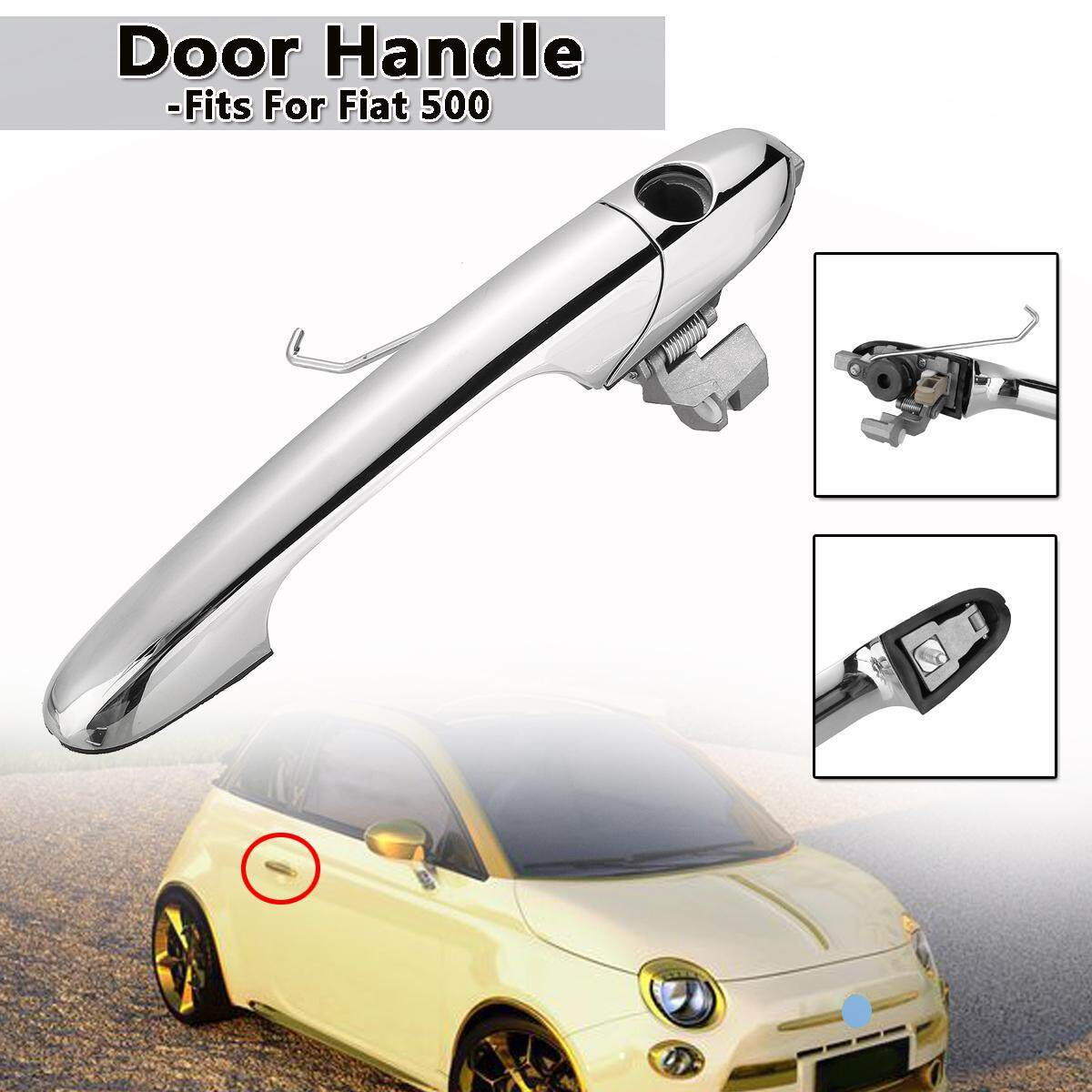 【Free Pengiriman + Flash Deal】for Fiat 500 O/S Sisi Pengemudi Chrome Gagang Pintu Luar 735592012 735485872