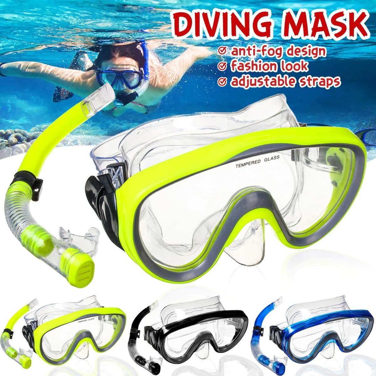 Dưới Nước Mặt Nạ Lặn Snorkelling Full Bộ Bơi Huấn Luyện Lặn Biển Chống Sương Mù Có Giá Cực Kỳ Tiết Kiệm