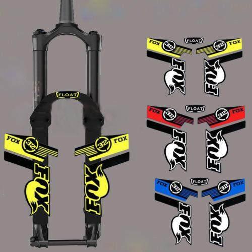 FOX32 Front fork sticker mountain bike Handmade reflective decal for MTB DH Race