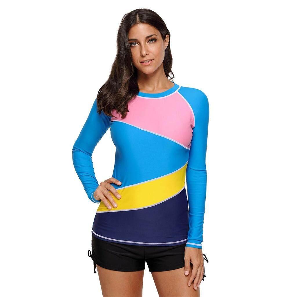 2584331fefd JY Women's Long Sleeve UV Sun Protection Swimsuit Rash Guard Surf Swim Top